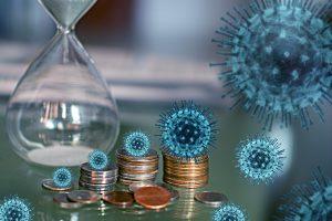 pieniądze - monety - koronawirus
